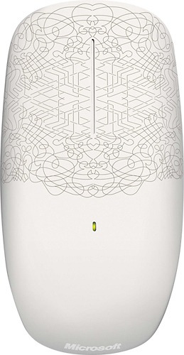 mouse inalámbrico táctil  microsoft- diseño en blanco