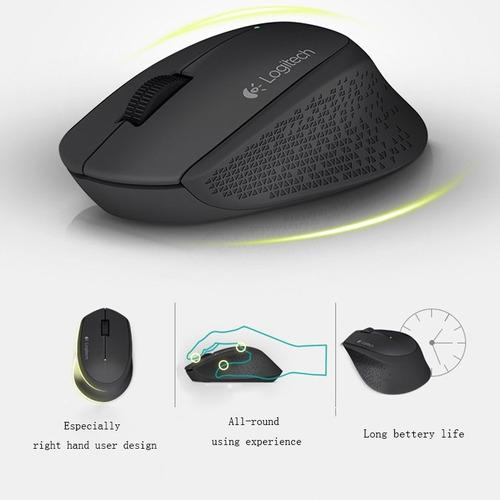 mouse inalambrico usb logitech m280 semi ergonomico original