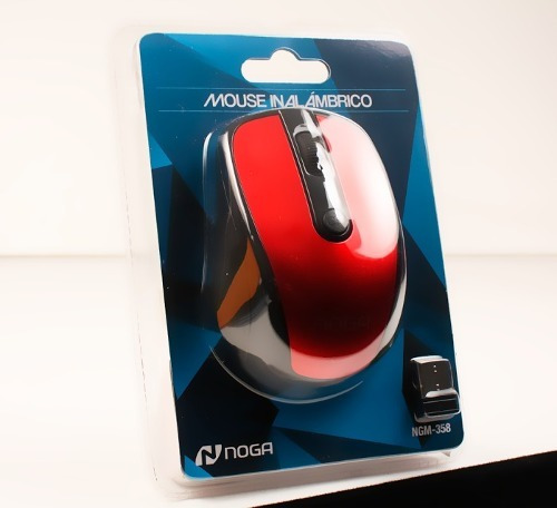 mouse inalambrico wireless pc notebook noga -358 hasta 8 mts