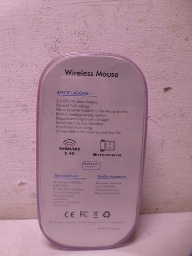 mouse inalambrico wireless rosa fundación tzedaká