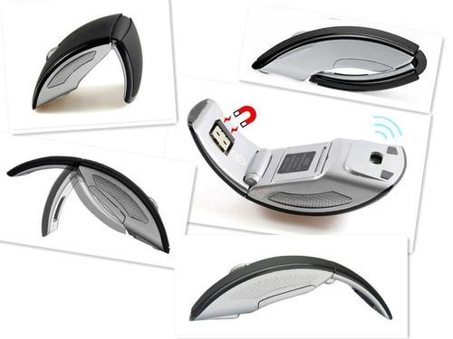 mouse inhalambrico ergonomico y plegable