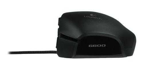 mouse logitech g600 mmo 8200 dpi laser 20 botões cxa lacrada