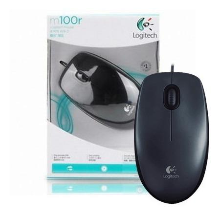 mouse logitech gamer optico m100r usb 1600 dpi de cable 8694