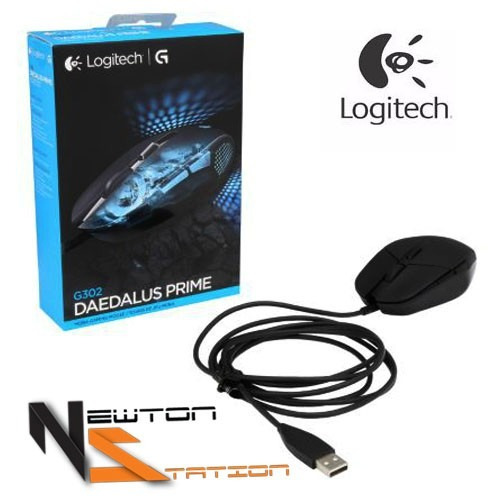 mouse logitech gaming g302 daedalus prime gamer 4000dpi
