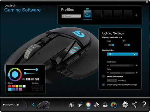mouse logitech gaming g502 proteus core pesonaliz gamer