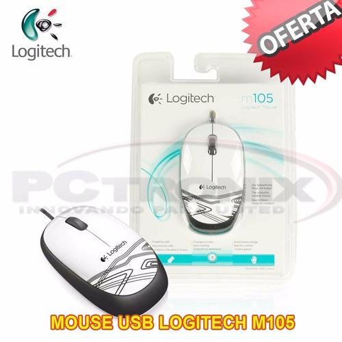 mouse logitech m105 c/cable usb pc notebook 1000 dpi