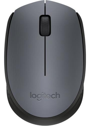 mouse logitech m170 inalambrico negro  gris  910-004940