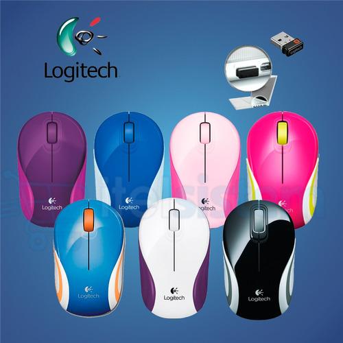 mouse logitech m187 mini wireles sellados colores itelsistem