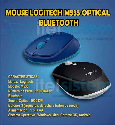 mouse logitech m535 optical bluetooth garantia  itelsistem