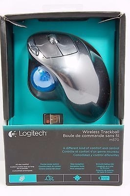 mouse logitech m570 wireless trackball gray