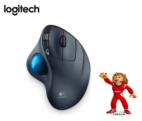 mouse logitech m570 wireless trackball gray/blue