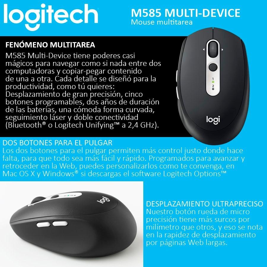 Mouse Logitech M585 Multi Device Inalambrico Bluetooth 107041 Cargando Zoom