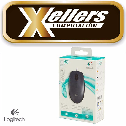mouse logitech m90 optico usb 1000dpi pc notebook - xellers