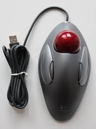 510a99ec2 Mouse Logitech Óptico Trackball Marble Prata Usb/ps2 - 910-0 - R ...