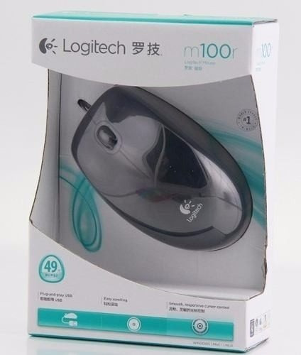 mouse logitech optico usb 2.0 1200 dpi m100
