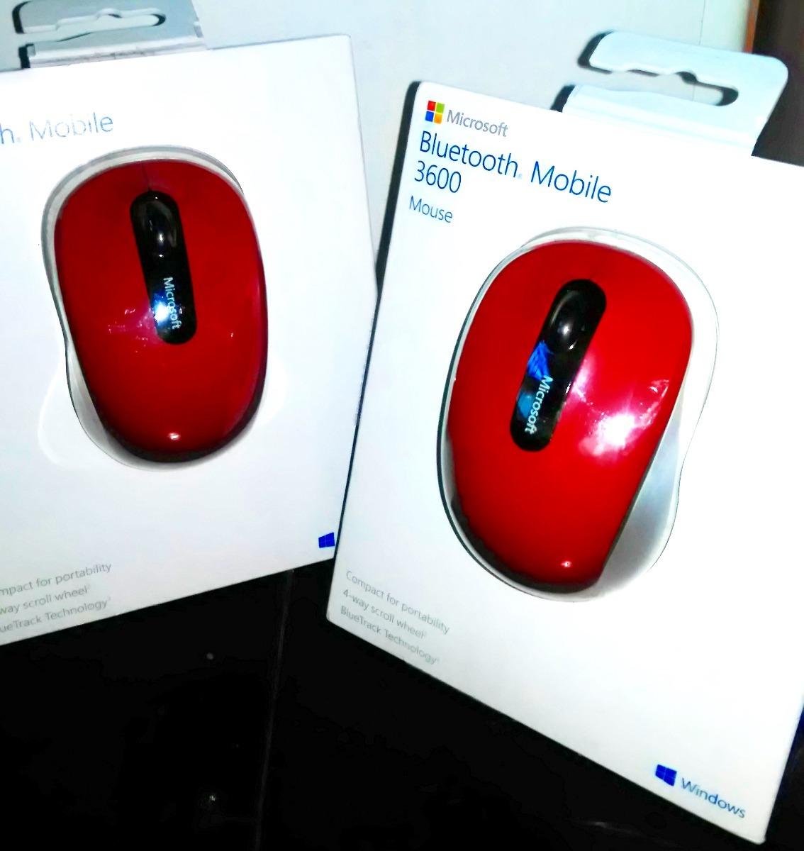 Mouse Microsoft Bluetooth 40 Mobile 3600 Celular Tablet Pc R 122 Red Carregando Zoom