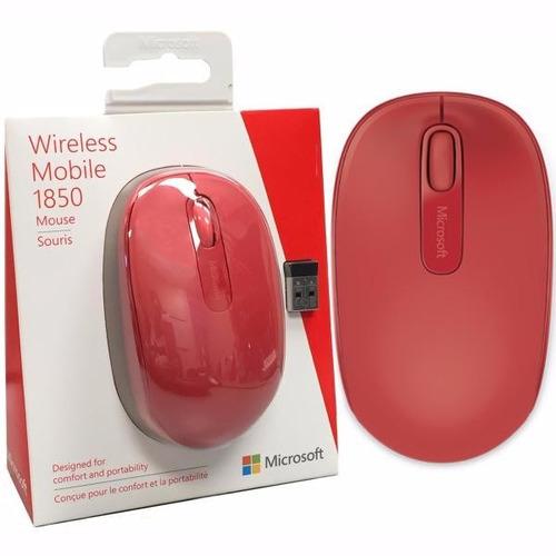 mouse microsoft wireless mobile 1850 rojo oferta navidad !!!