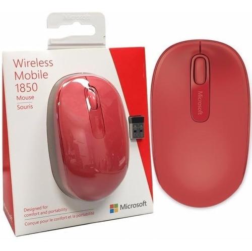 mouse microsoft wireless mobile 1850 rojo oferta- revogames