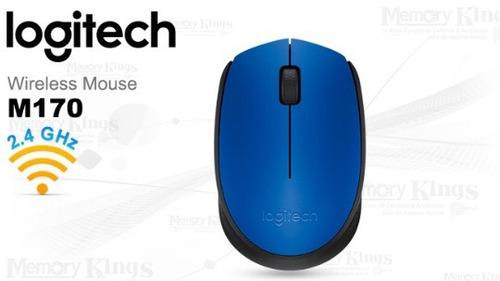 mouse nb wireless logitech m170 blue pc/mac