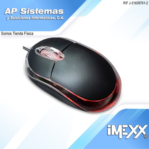 mouse o ratón óptico imexx ime-26300
