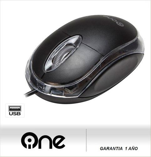 mouse one optical em-117blk  usb negro( sumcomcr)