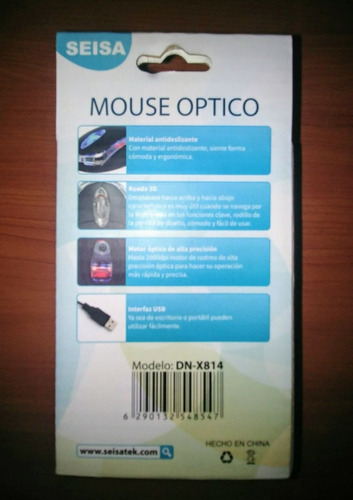 mouse optico alambrico seisa x mayor x menor