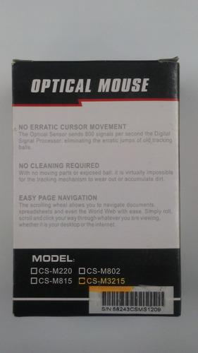 mouse óptico cidsu usb