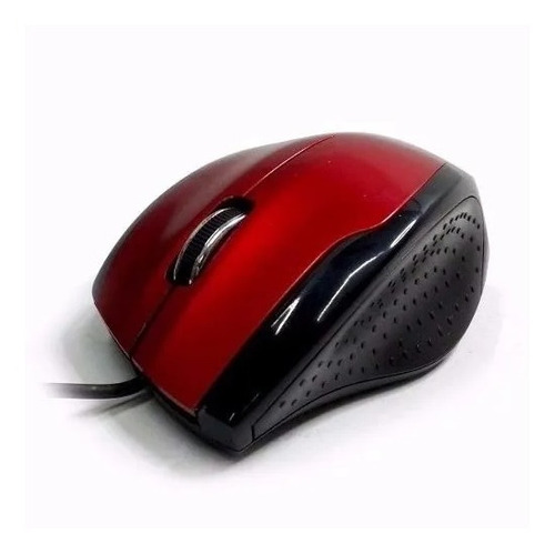 mouse óptico ergonómico usb global scroll m126red blister