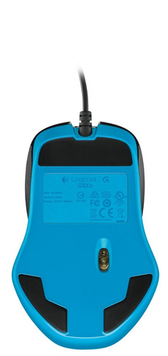 mouse óptico gamer logitech g300s, 200 - 2500 dpi, iluminaci