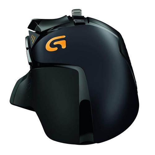 mouse óptico gamer logitech g502 hero, 100 - 16000 dpi, ilum