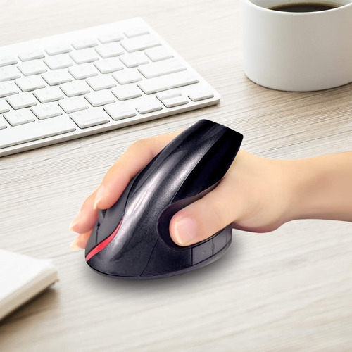 mouse óptico inalámbrico ergonómico, 5 botones, recargable
