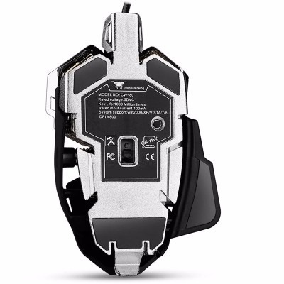 mouse óptico para gamers combaterwing cw80 con cable usb