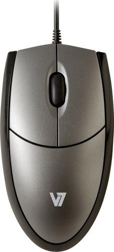 mouse optico usb 1000dpi color negro-plata-windows y mac