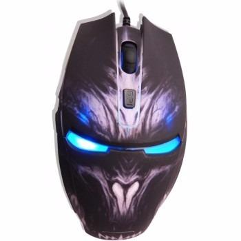 mouse óptico usb 2800dpi gaming mouse 6d led azul mog014lglb