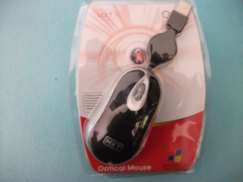 mouse óptico usb 3d cabo retrátil flex (80cm) p/notebook, pc