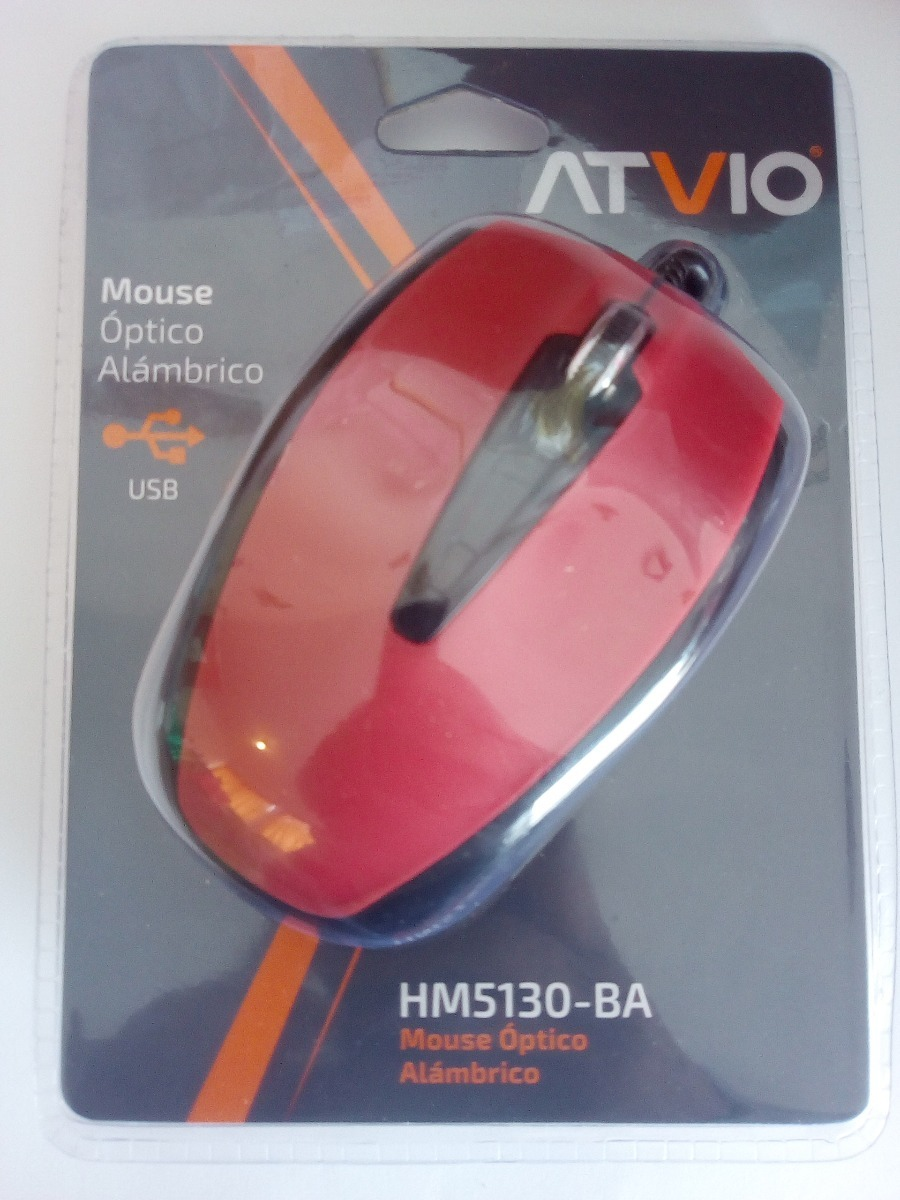 Mouse Optico Usb Atvio Color Rojo Con Negro - $ 119.00 en Mercado Libre