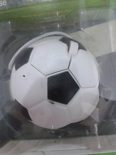 mouse optico usb en forma de pelota de fútbol