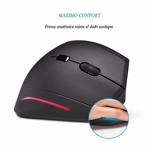 mouse óptico vertical ergonómico anker® - usb