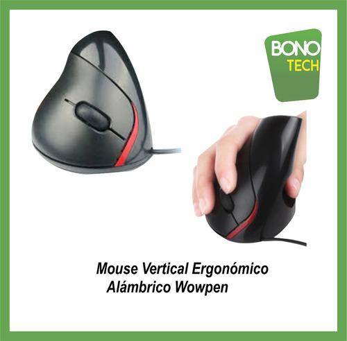 mouse ortopedico ergonómico vertical alámbrico tipo wowpen