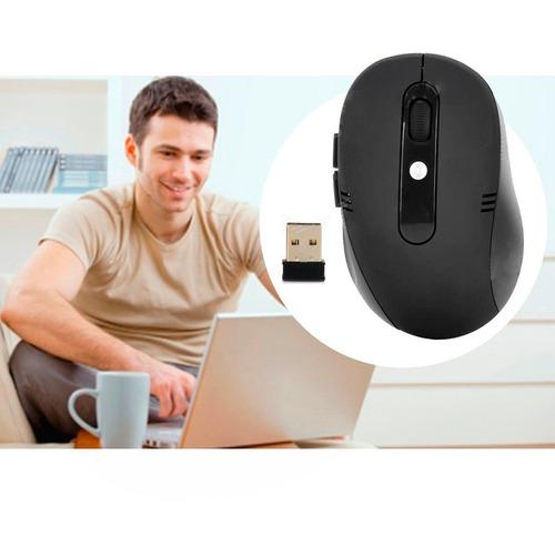 mouse ótico wireless sem fio 1600 dpi nano notebook pc t63