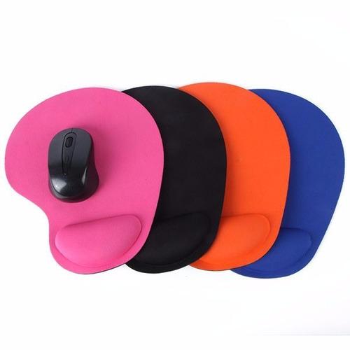 mouse pad con apoya muñeca, antideslizante, color naranja