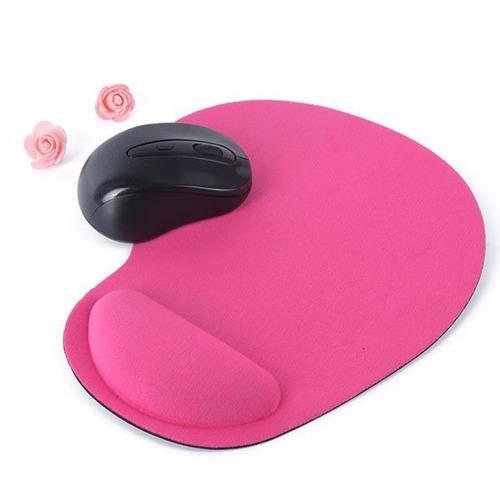mouse pad con apoya muñeca, antideslizante, color rosa