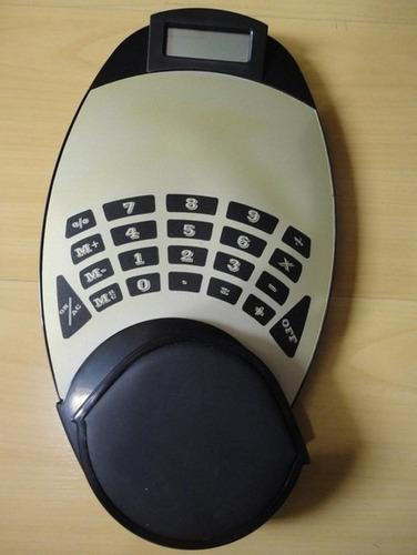 mouse pad ergonomico + calculadora novo