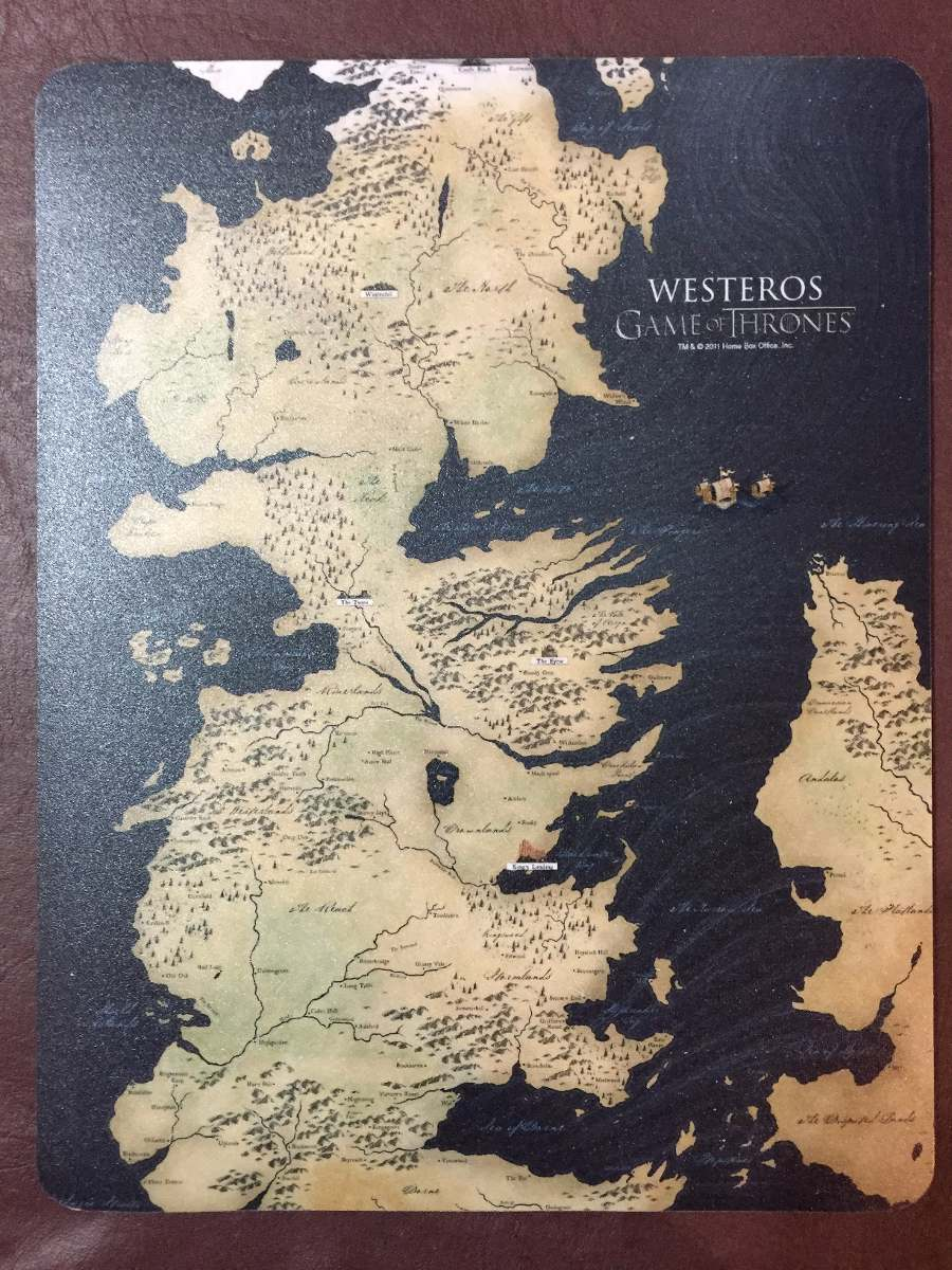 Mouse pad game of thrones map of westeros original hbo 42990 en mouse pad game of thrones map of westeros original hbo cargando zoom gumiabroncs Images