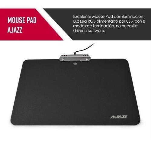 mouse pad gamer ajazz rgb led version speed proglobal