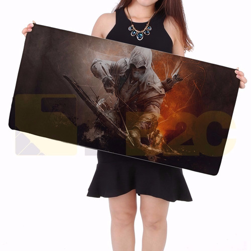 mouse pad gamer grande large para mouse teclado 70x35 cm t86