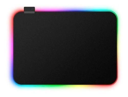 mouse pad gamer usb led rgb x3 35x25cm - monkeycolor