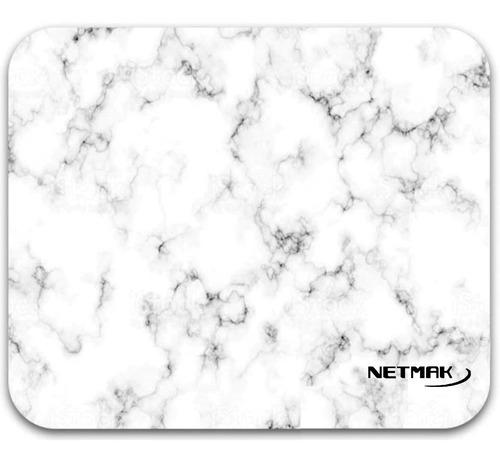 mouse pad - liso marmol blanco netmak nm-m1224