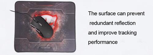 mouse pad motospeed gamer anti deslizante 30x26cm