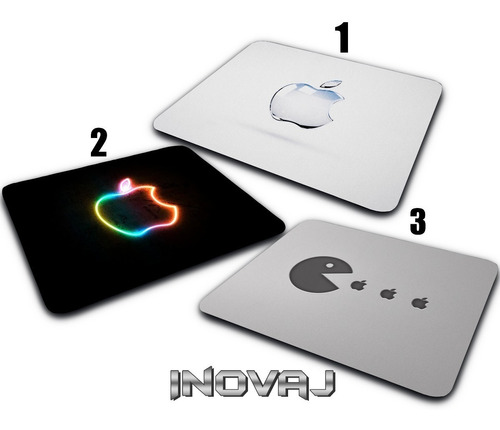 mouse pad mousepad apple mac ios maça marca steve jobs